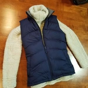 LANDS END Navy Blue Puffer Vest - Size S (EUC)